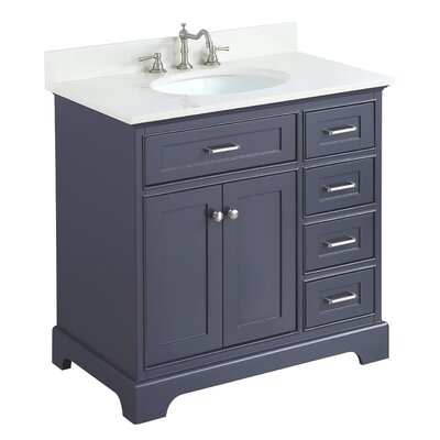 Aria 36 Single Bathroom Vanity Set Base Finish: Charcoal Gray