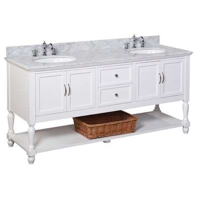 Beverly 72 Double Bathroom Vanity Set