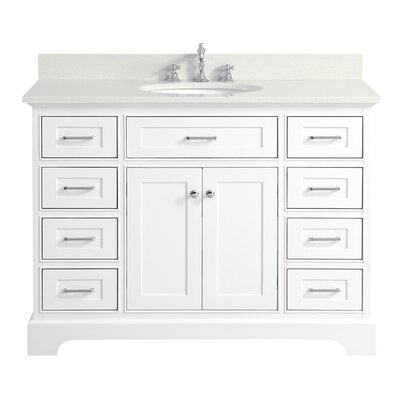 Aria 48 Single Bathroom Vanity Set Base Finish: White