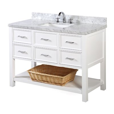 New Hampshire 48 Single Bathroom Vanity Set Base Finish: White