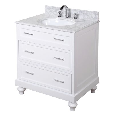 Amelia 30 Single Bathroom Vanity Set Base Finish: White