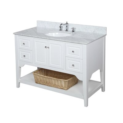 Washington 48 Single Bathroom Vanity Set Base Finish: White