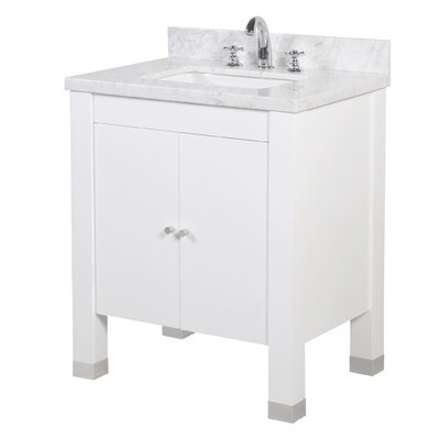 Riley 30 Single Bathroom Vanity Set Base Finish: White