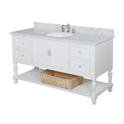 Beverly 60 Single Bathroom Vanity Set Base Finish: White