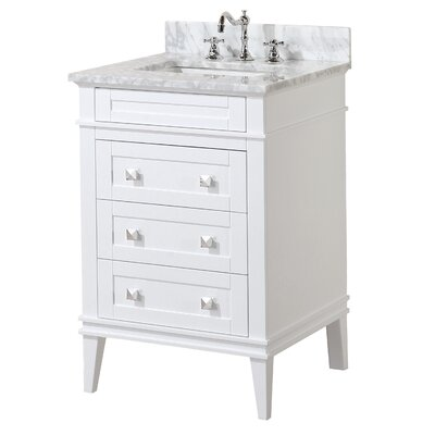 Eleanor 24 Single Bathroom Vanity Set Base Finish: White