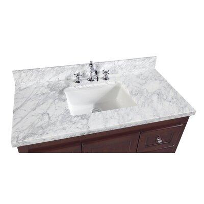 Abbey 42 Single Bathroom Vanity Set Base Finish: Chocolate