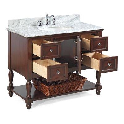 Beverly 42 Single Bathroom Vanity Set Base Finish: Chocolate