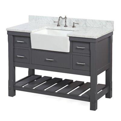 Charlotte 48 Single Bathroom Vanity Set Base Finish: Chocolate, Top Finish: Quartz