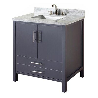 California 36 Single Bathroom Vanity Set Base Finish: Charcoal Gray