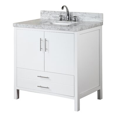 California 36 Single Bathroom Vanity Set Base Finish: White