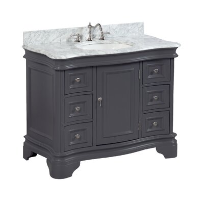 Katherine 42 Single Bathroom Vanity Set Base Finish: Charcoal Gray