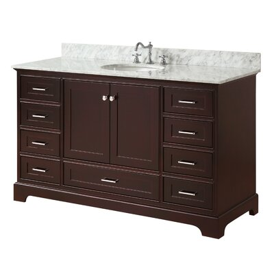 Harper 60 Single Bathroom Vanity Set Base Finish: Chocolate