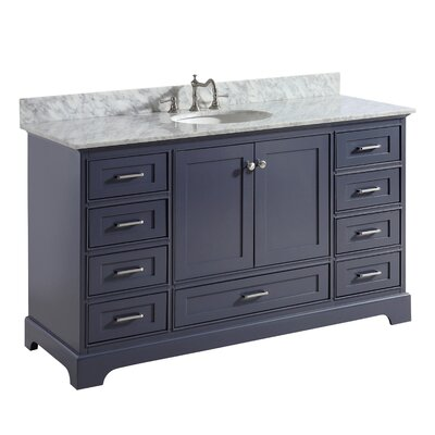 Harper 60 Single Bathroom Vanity Set Base Finish: Charcoal Gray