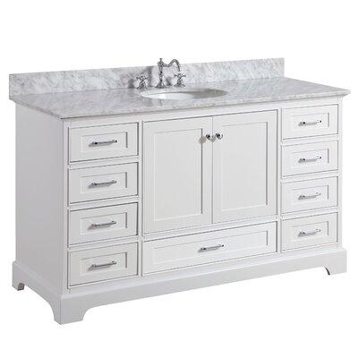 Harper 60 Single Bathroom Vanity Set Base Finish: White