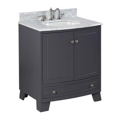 Palazzo 30 Single Bathroom Vanity Set Base Finish: Charcoal Gray