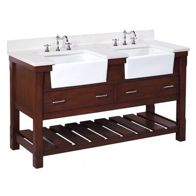 Charlotte 60 Double Bathroom Vanity Set Base Finish: Chocolate