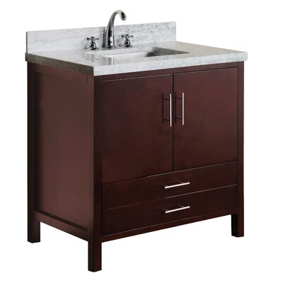 California 36 Single Bathroom Vanity Set Base Finish: Chocolate