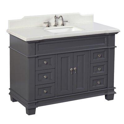 Elizabeth 48 Single Bathroom Vanity Set Top Finish: Quartz