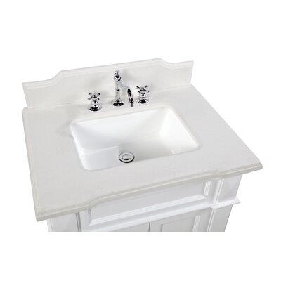 Elizabeth 30 Single Bathroom Vanity Set Base Finish: White, Top Finish: Quartz