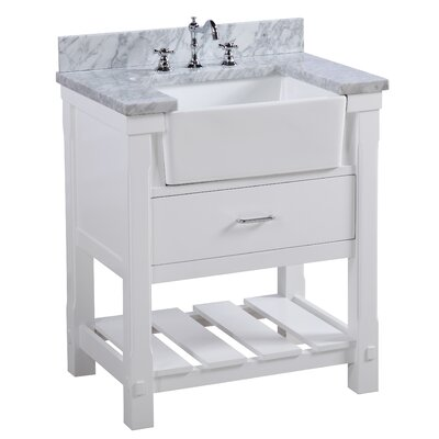 Charlotte 30 Single Bathroom Vanity Set Base Finish: White