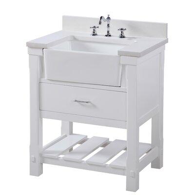 Charlotte 30 Single Bathroom Vanity Set Base Finish: White