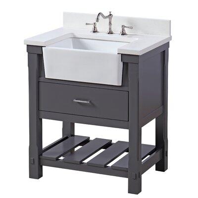 Charlotte 30 Single Bathroom Vanity Set Base Finish: Charcoal Gray
