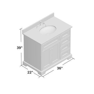 Aria 36 Single Bathroom Vanity Set Base Finish: Chocolate, Top Finish: Carrara Marble