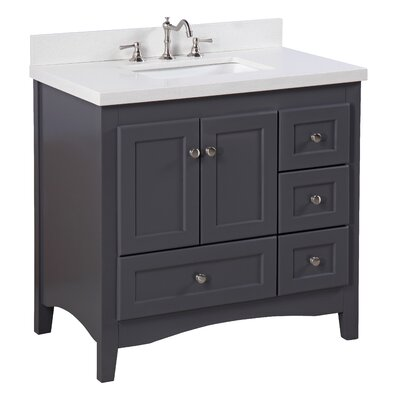 Abbey 36 Single Bathroom Vanity Set Top Finish: Quartz