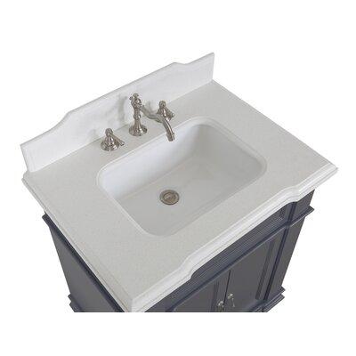 Elizabeth 30 Single Bathroom Vanity Set Base Finish: Charcoal Gray, Top Finish: Quartz
