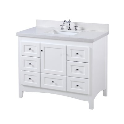 Abbey 42 Single Bathroom Vanity Set Base Finish: White