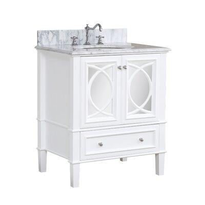 Olivia 30 Single Bathroom Vanity Set Base Finish: White