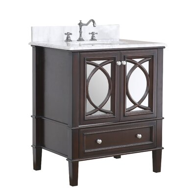 Olivia 30 Single Bathroom Vanity Set Base Finish: Chocolate