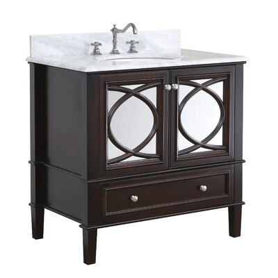 Olivia 36 Single Bathroom Vanity Set Base Finish: Chocolate