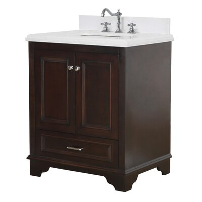 Nantucket 30 Single Bathroom Vanity Set Base Finish: Chocolate, Top Finish: Quartz