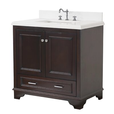Nantucket 36 Single Bathroom Vanity Set Base Finish: Chocolate, Top Finish: Quartz