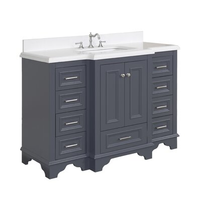 Nantucket 48 Single Bathroom Vanity Set Top Finish: Quartz