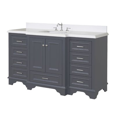 Nantucket 60 Single Bathroom Vanity Set Top Finish: Quartz