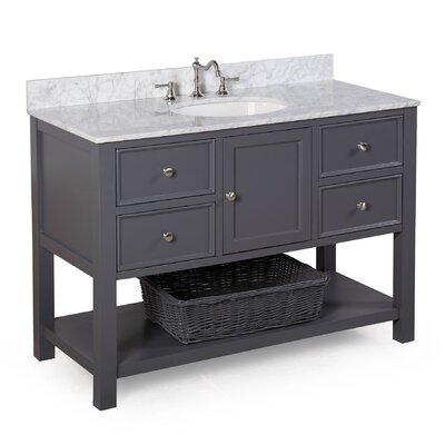 New Yorker 48 Single Bathroom Vanity Set Base Finish: Charcoal Gray