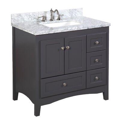 Abbey 36 Single Bathroom Vanity Set Top Finish: Carrara