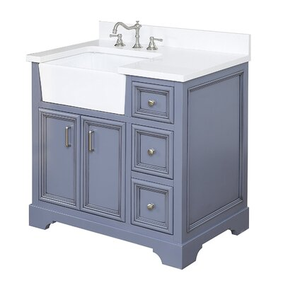 Zelda 36 Single Bathroom Vanity Set Base Finish: Powder Grey