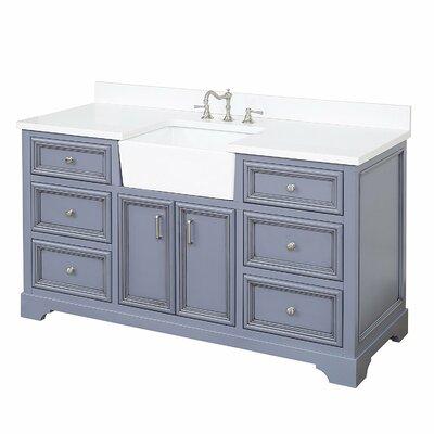 Zelda 60 Single Bathroom Vanity Set Base Finish: Powder Grey