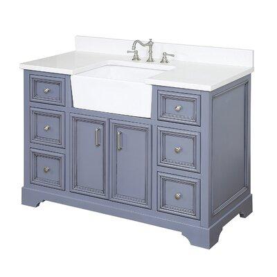Zelda 48 Single Bathroom Vanity Set Base Finish: Powder Grey