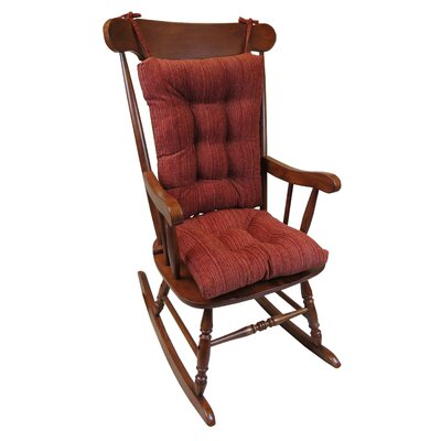 Universal Rocking Chair Cushion Cushion Color: Garnet Red