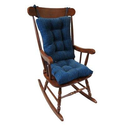 Universal Rocking Chair Cushion Cushion Color: Sapphire Blue