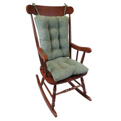 Universal Rocking Chair Cushion Cushion Color: Jade Green