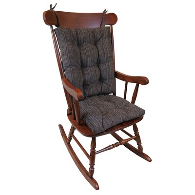 Universal Rocking Chair Cushion Cushion Color: Chocolate Brown