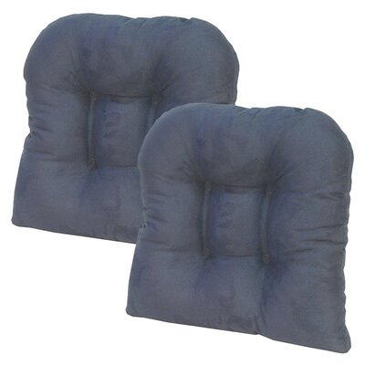 Obsession Chair Cushion Color: Navy