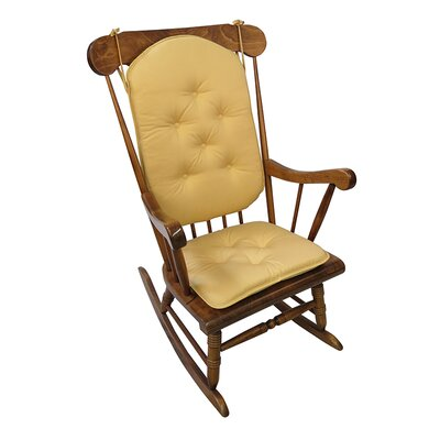 Twill Rocking Chair Cushion Color: Cinder Toffee