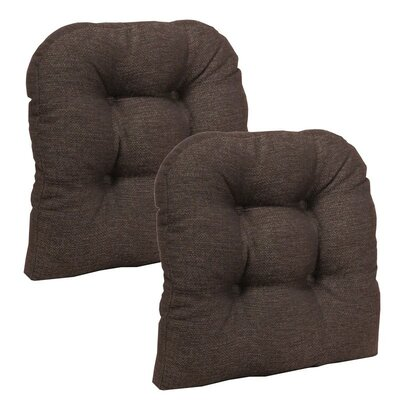 Omega Dining Chair Cushion Color: Chestnut