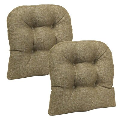 Dining Chair Cushion Set Color: Gold
